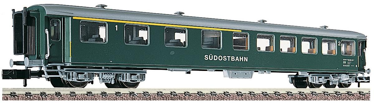 1st / 2nd class express coach, type AB of the SÜDOSTBAHN (SOB)
