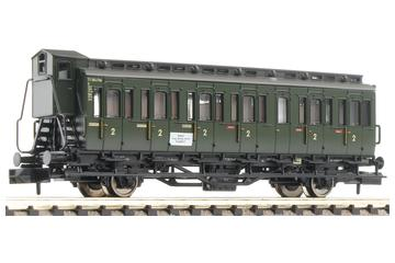 2 axled compartment coach with brakeman's cab, type C pr 21, of the DB