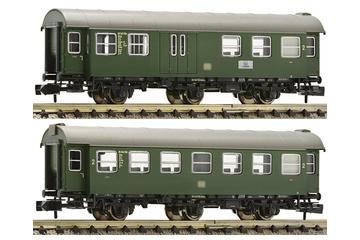 2 pc. Set: One 2nd class conversion car and another one with luggage compartment, DB