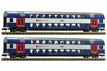 2 part double decker wagon set