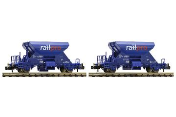 2-piece set ballast wagons, Voestalpine Railpro